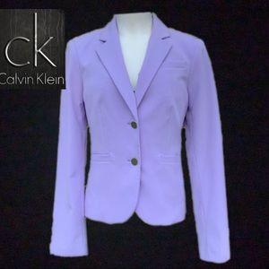 Calvin Klein Lavender Two Button ShortJacket